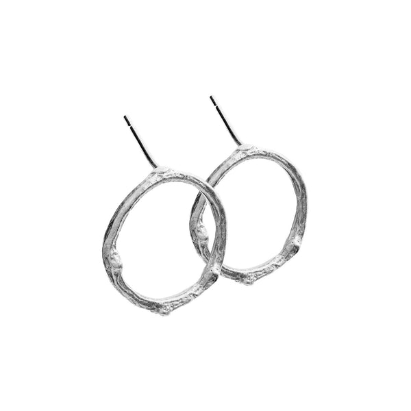 Twig Circle Earrings