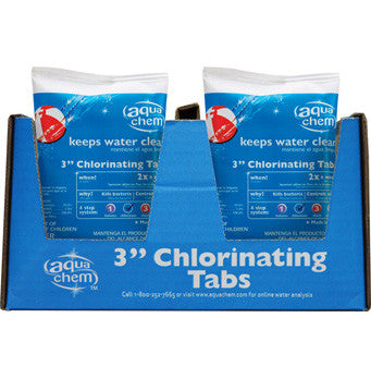 "Warehouse Discount - Aqua Chem® 3"" Chlorinating Tabs (Case of 40 Tabs)"