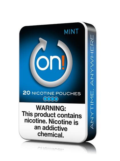 On! Nicotine Pouches - Mint - 4mg - 20 Pouches