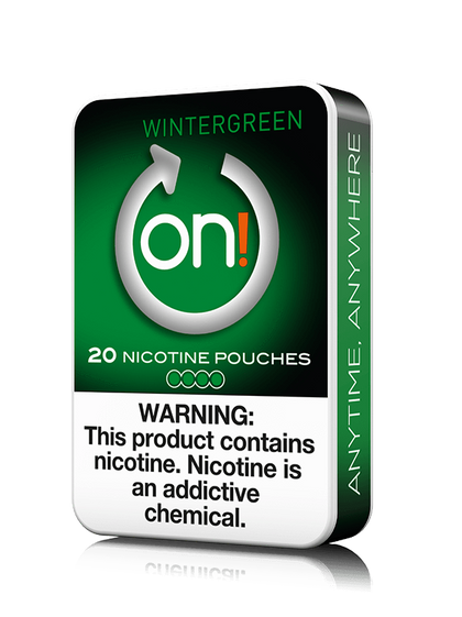 On! Nicotine Pouches - Wintergreen - 4mg - 20 Pouches