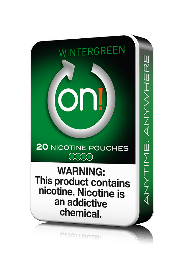 on! Nicotine Pouches - Wintergreen - 8mg - 20 Pouches