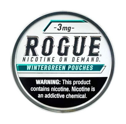 Rogue Nicotine Pouches - Wintergreen - 3mg - 20 Pouches