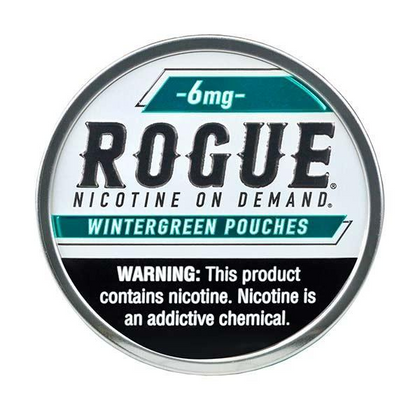 Rogue Nicotine Pouches - Wintergreen - 6mg - 20 Pouches