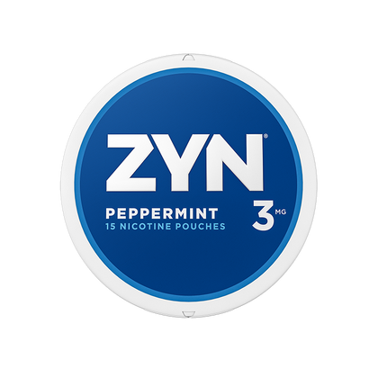 ZYN Nicotine Pouches - Peppermint - 3mg - 15 Pouches
