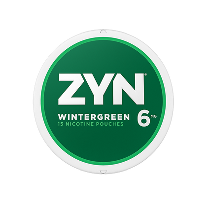 ZYN Nicotine Pouches - Wintergreen - 6mg - 15 Pouches