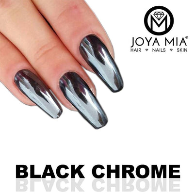Black Chrome Nail Powder