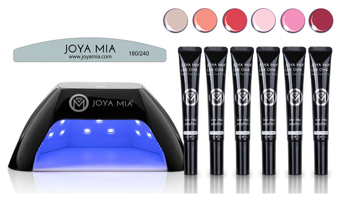 Chik Chak® Gel Polish Starter Kit with LED Lamp and 6 colors: 19,21,24,30,33,38