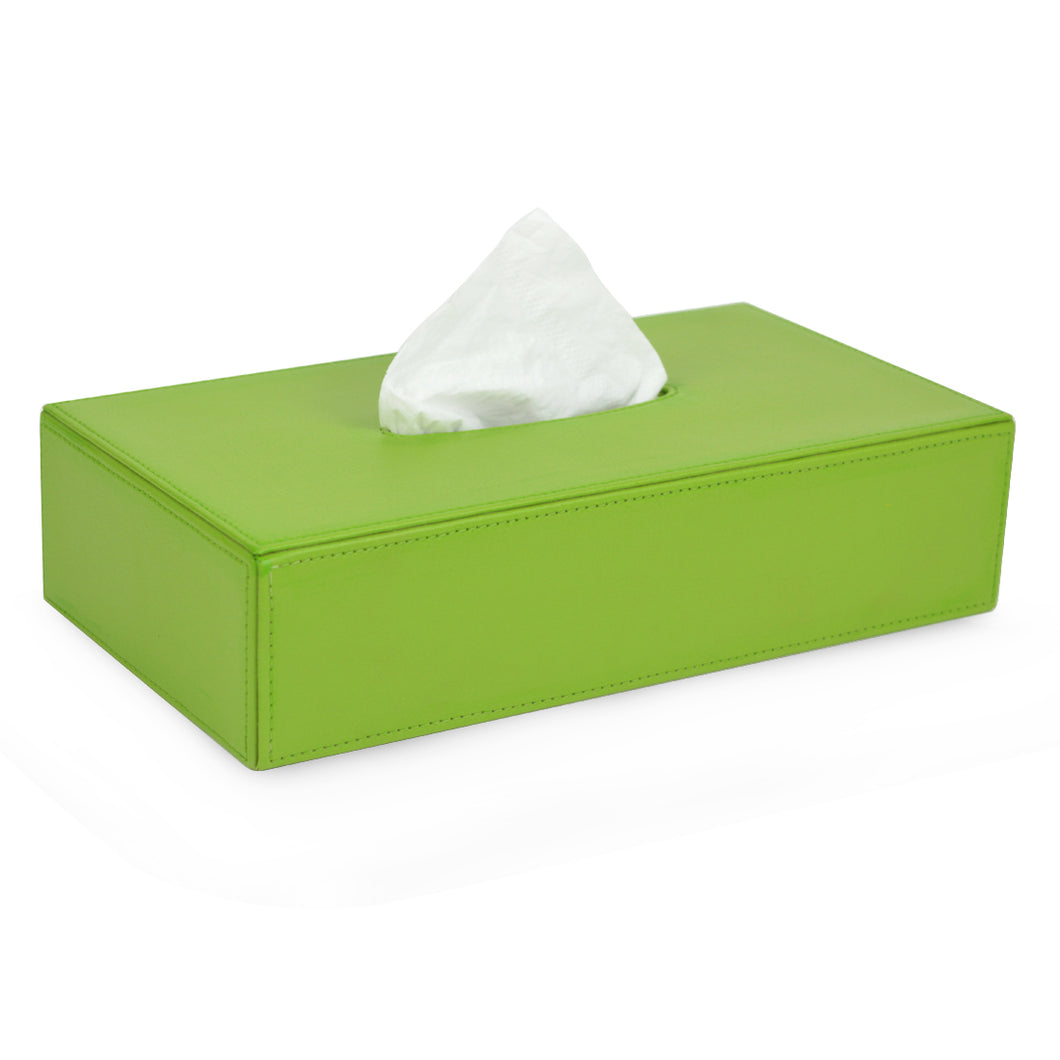 NEW | Sowerby  (rectangular) - Green Faux Leather Tissue Box Cover