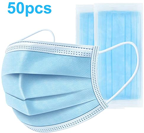 Disposable Face Mask 3 ply, Set of 50