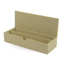 Load image into Gallery viewer, Downing - BeigeFaux Leather Stationary Box