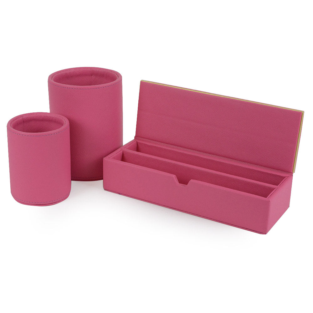 Vauxhall - Pink Faux Leather Stationary Set