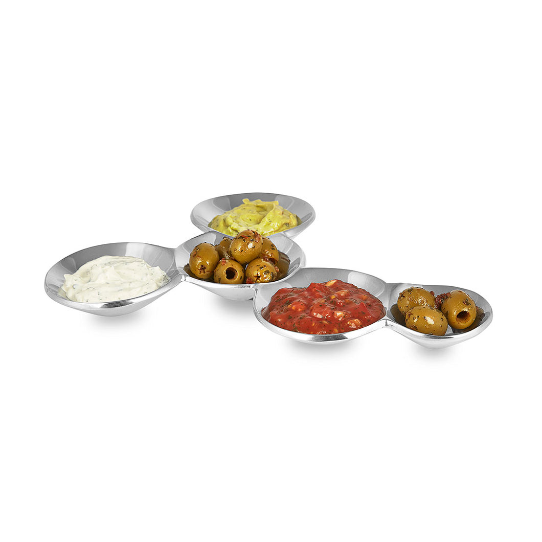 Rivington - Five Compartment Metal Snack Dish