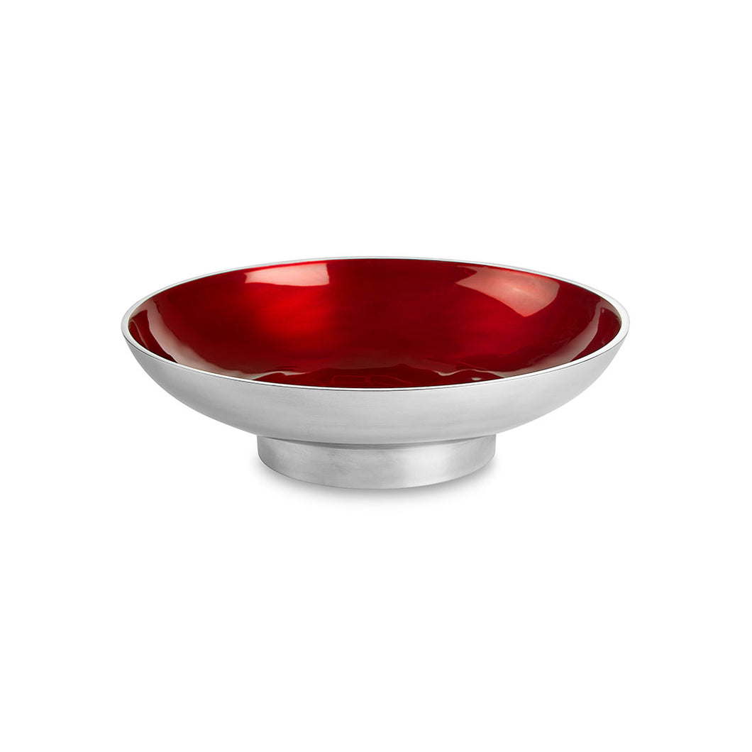 Barlow - Small Red Enamel & Metal Bowl