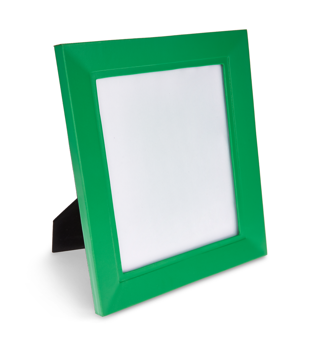 Trafalgar Square  - Green Faux Leather photo frame