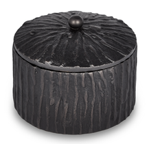 Load image into Gallery viewer, Portobello - Bark Textured Metal Bath Salt Container