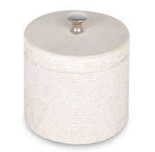 Load image into Gallery viewer, Tower of London - Round Stone Textured Bath Salt Container