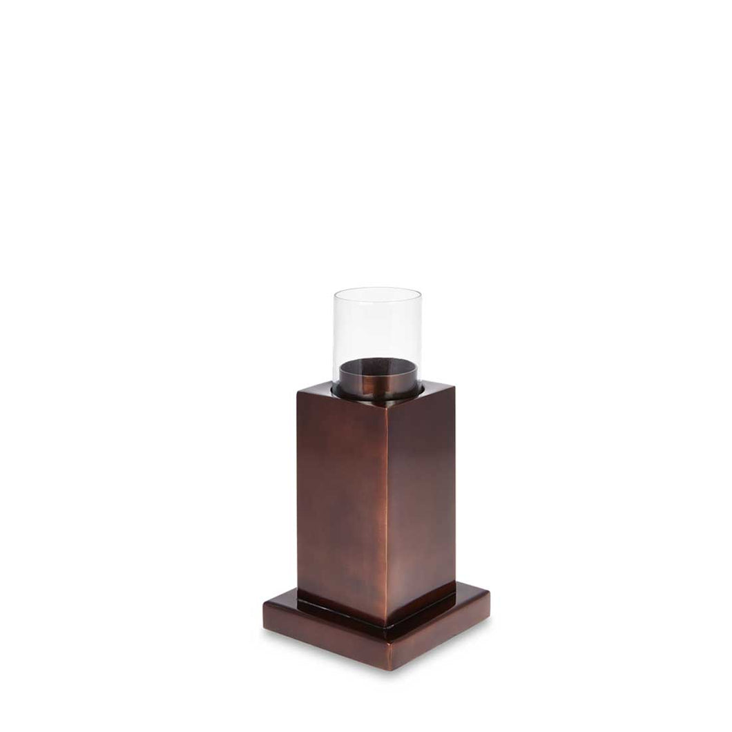 Rupert - Antique Copper Tower Candle Holder