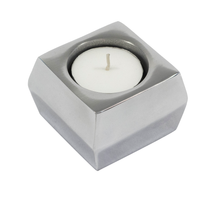 Load image into Gallery viewer, Katherine - Square Polished Metal Candle Holder