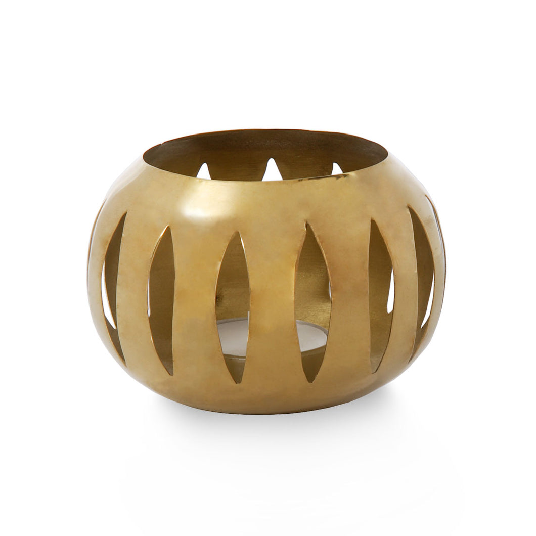 Penfold - Brass Cut Out Candle Holder