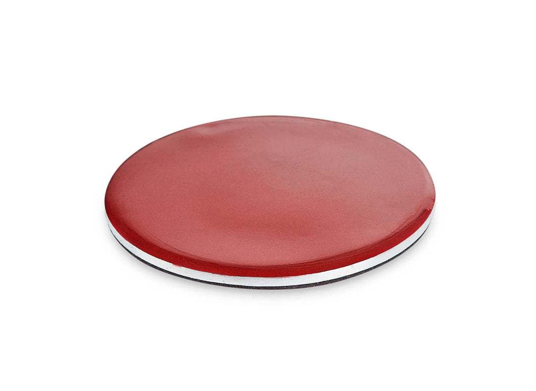 Chandos - Round Red Enamel Coaster