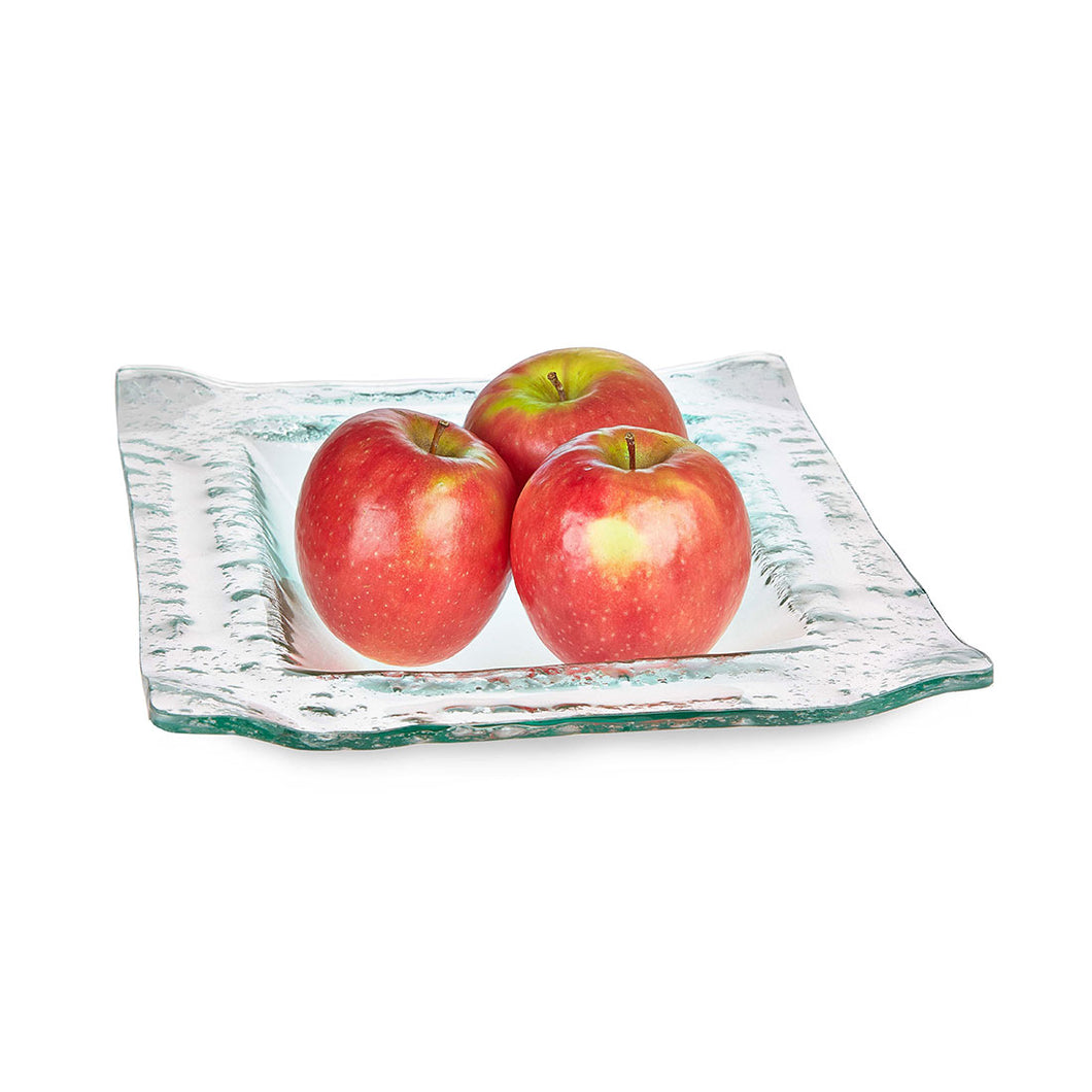 Hanson - Square Textured Glass Fruit Bowl