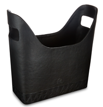 Load image into Gallery viewer, Queensway - Black Faux Leather Magazine Holder