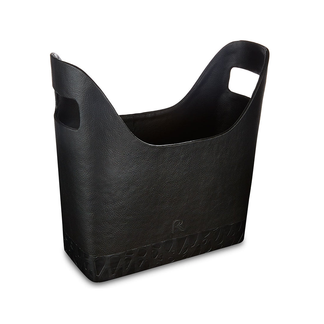 Queensway - Black Faux Leather Magazine Holder