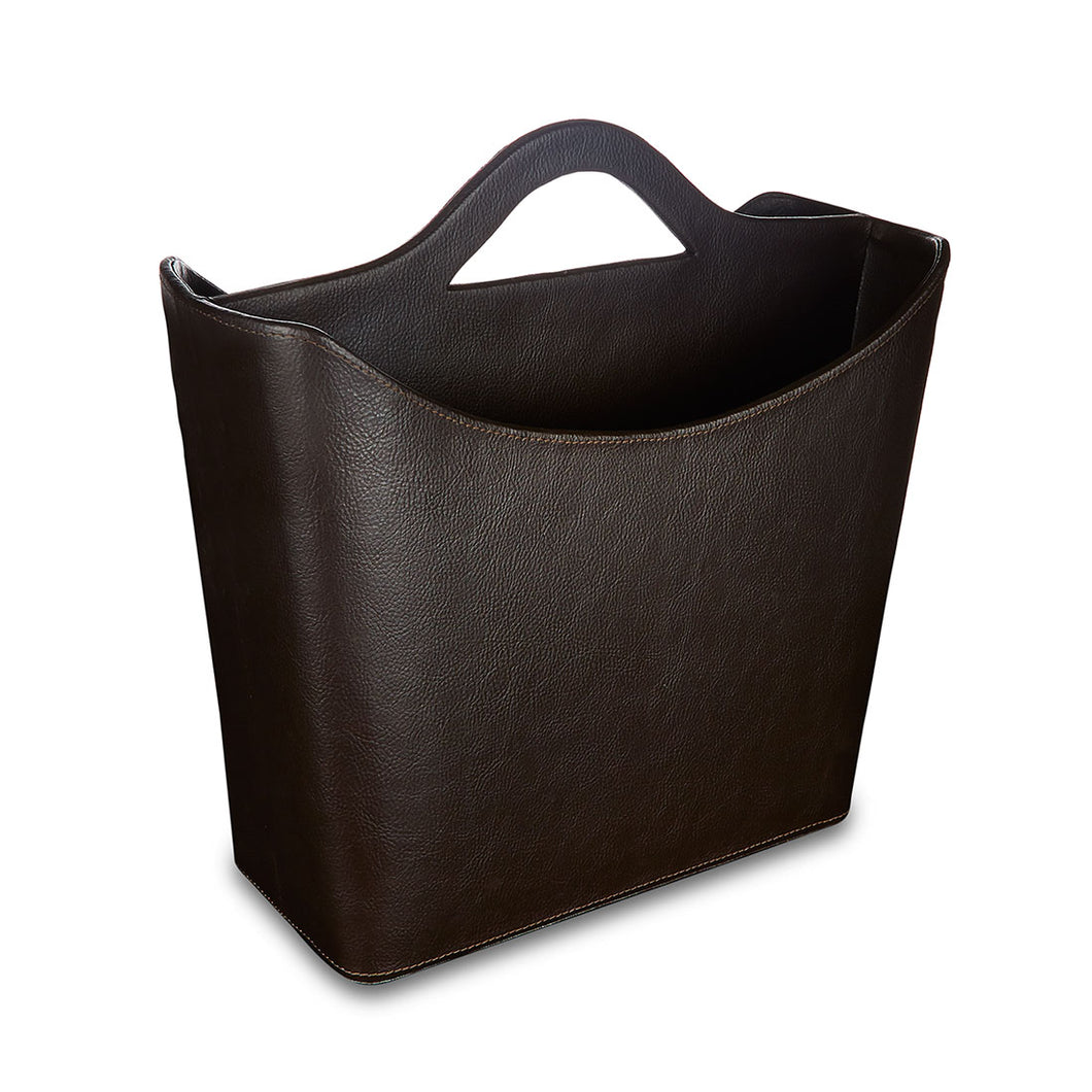 Monument - Brown Faux Leather Magazine Holder
