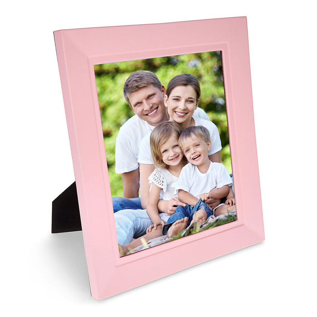 Trafalgar Square - Pink Faux Leather Photo Frame
