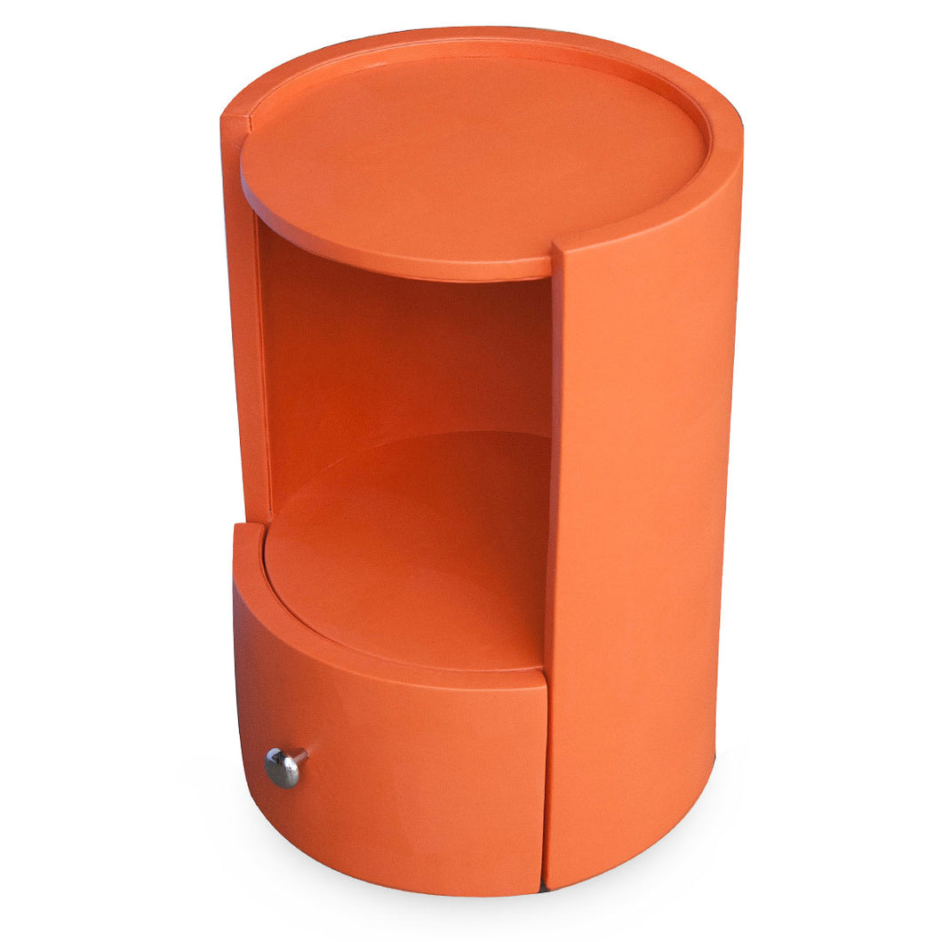 Lexham - Orange Faux Leather Side Table