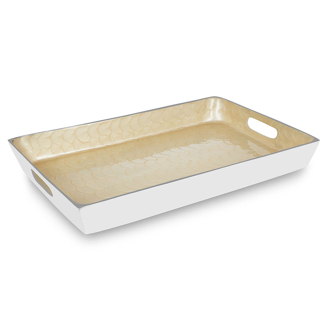 Imber - Square Cream Enamel Tray