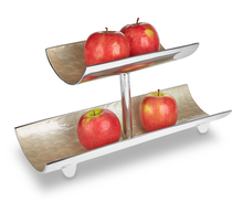 Load image into Gallery viewer, Elba - Metal & Cream Enamel Fruit Stand