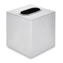 Load image into Gallery viewer, Hammersmith - Hammered Metal Tissue Box Cover