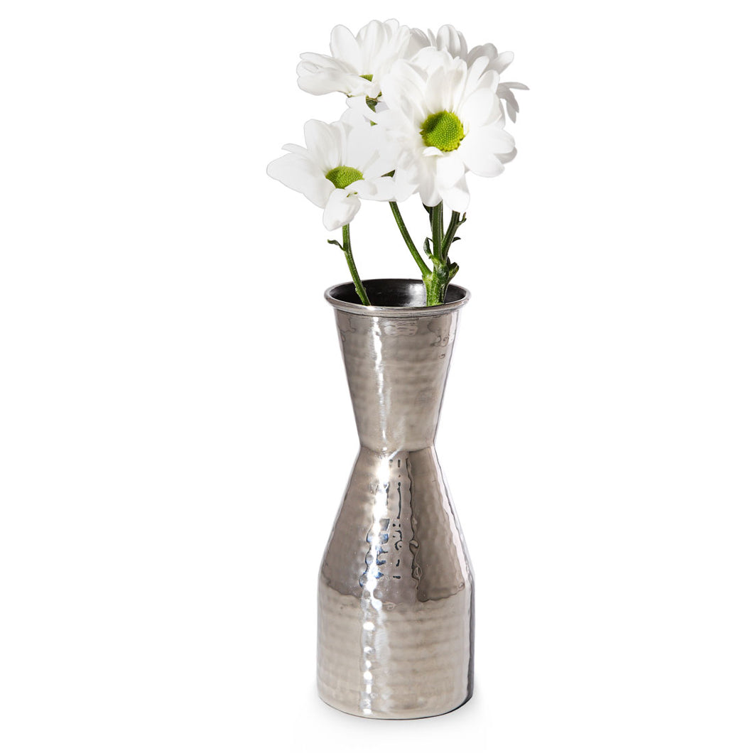 Iris - Hammered Metal Single Flower Vase