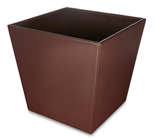 Load image into Gallery viewer, Moorgate - Brown Faux Leather Tapered Waste Bin