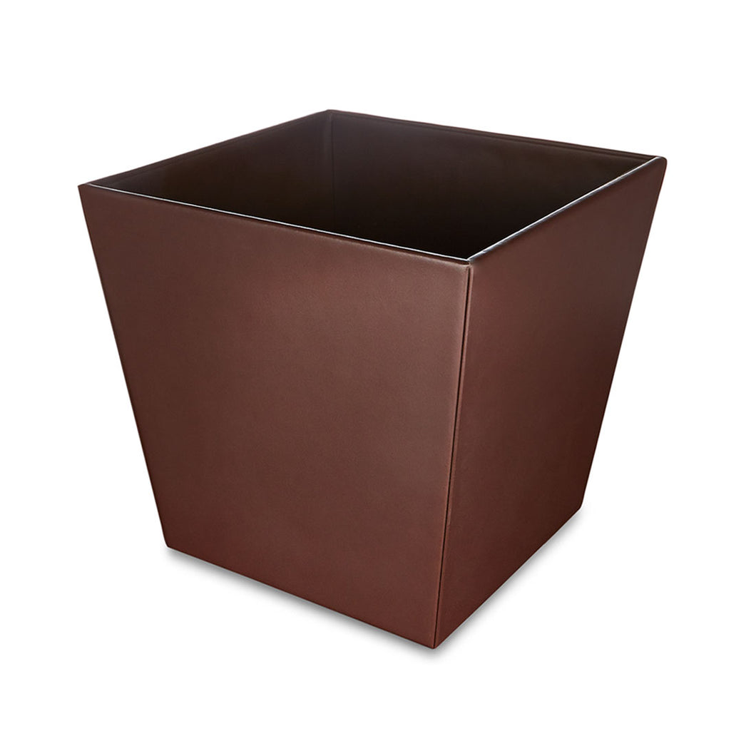 Moorgate - Brown Faux Leather Tapered Waste Bin