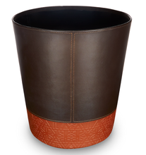 Load image into Gallery viewer, Aldgate - Round Faux Leather Waste Bin