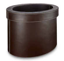 Load image into Gallery viewer, Farringdon - Oval Faux Leather Waste Bin