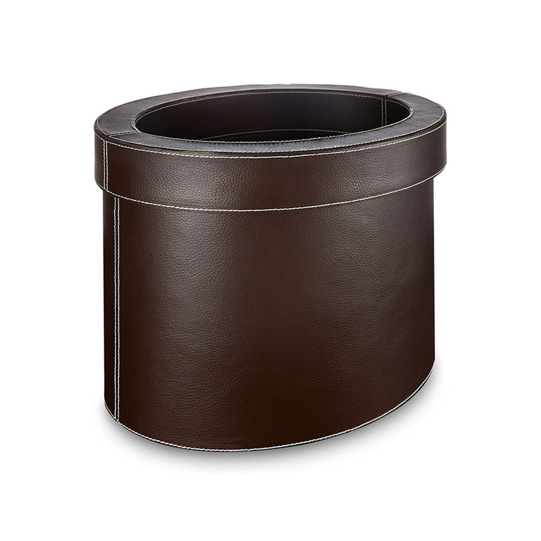 Farringdon - Oval Faux Leather Waste Bin