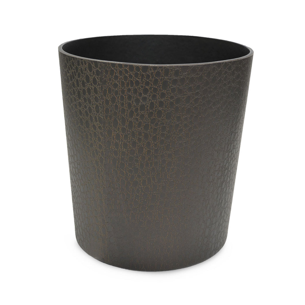 Azen - Faux Leather Waste Bin with Crocodile Texture.