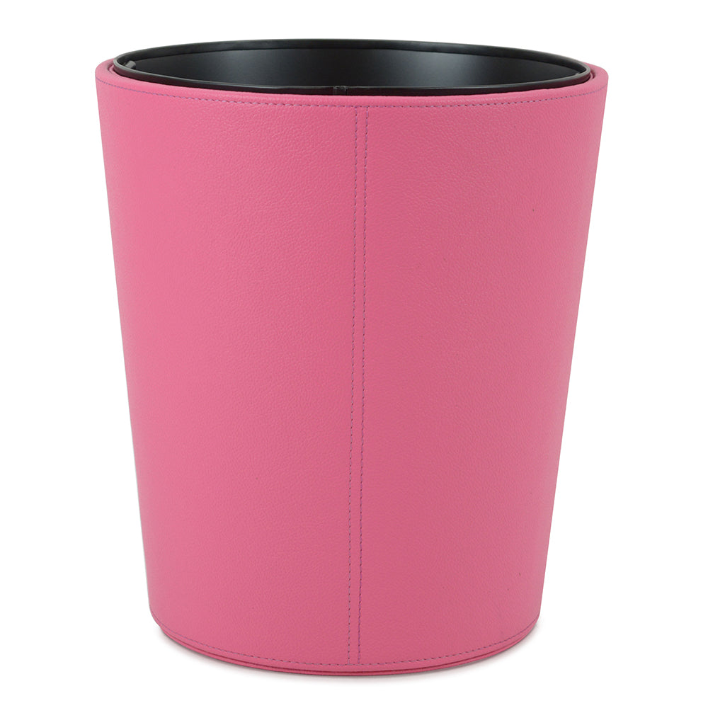 Vauxhall - Pink Faux Leather Waste Bin