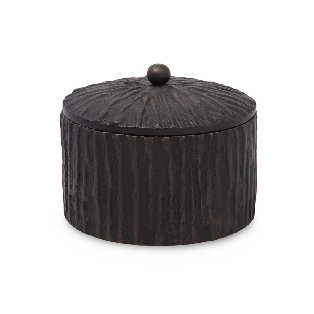 Portobello - Bark Textured Metal Bath Salt Container