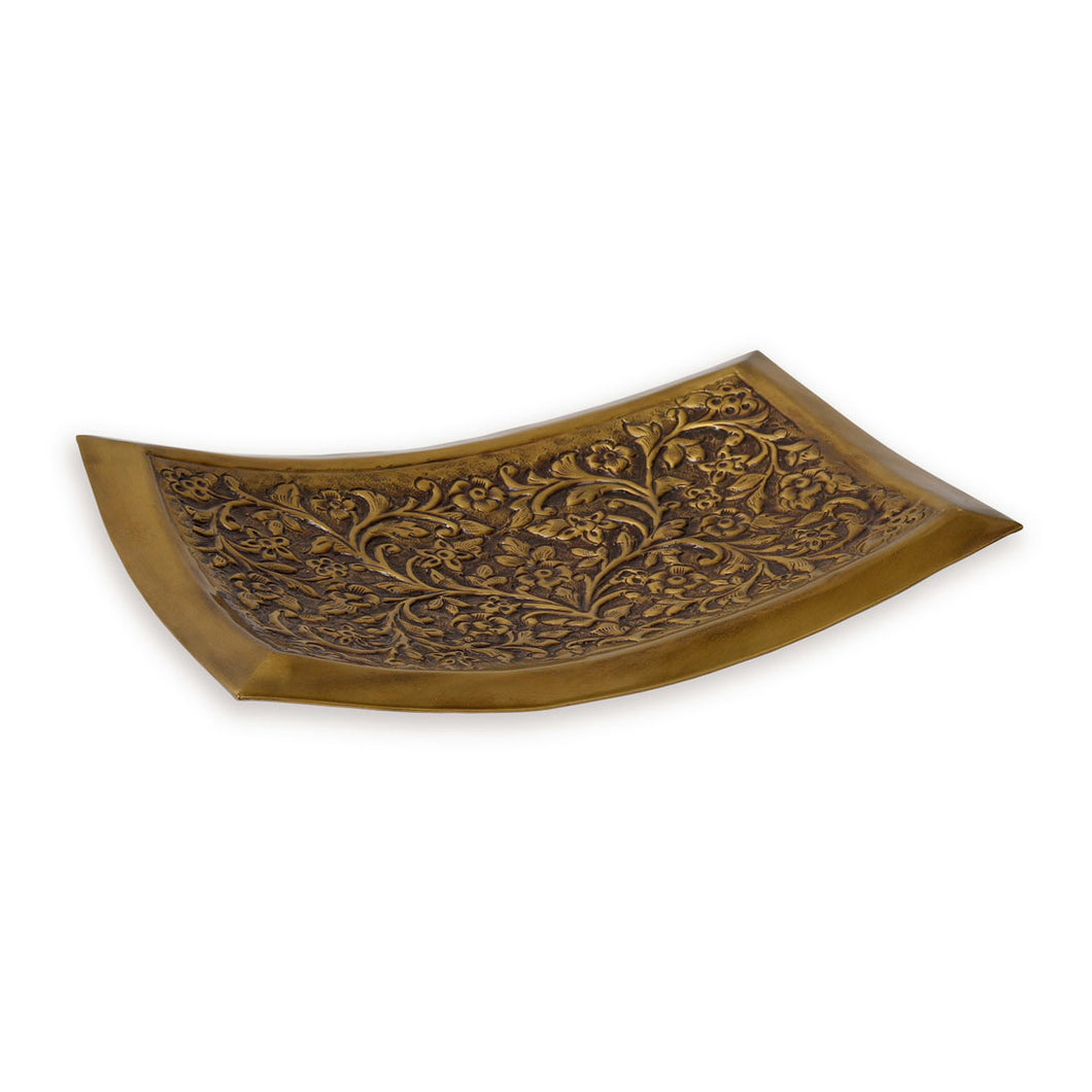 Camden - Curved Brass Display Tray