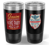front and back tumbler mock up