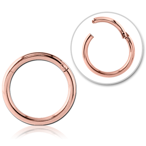 ROSE GOLD PVD COATED BALL CLOSURE RING