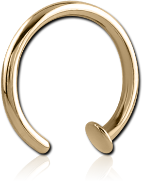 ZIRCON GOLD PVD COATED OPEN NOSE RING