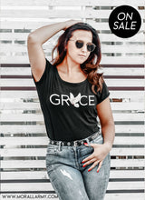 Load image into Gallery viewer, Grace | Morall Army| Ladies' Scoopneck T-Shirt