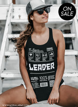 Load image into Gallery viewer, Leader | Morall Army | Women's Tri-Blend Racerback Tank
