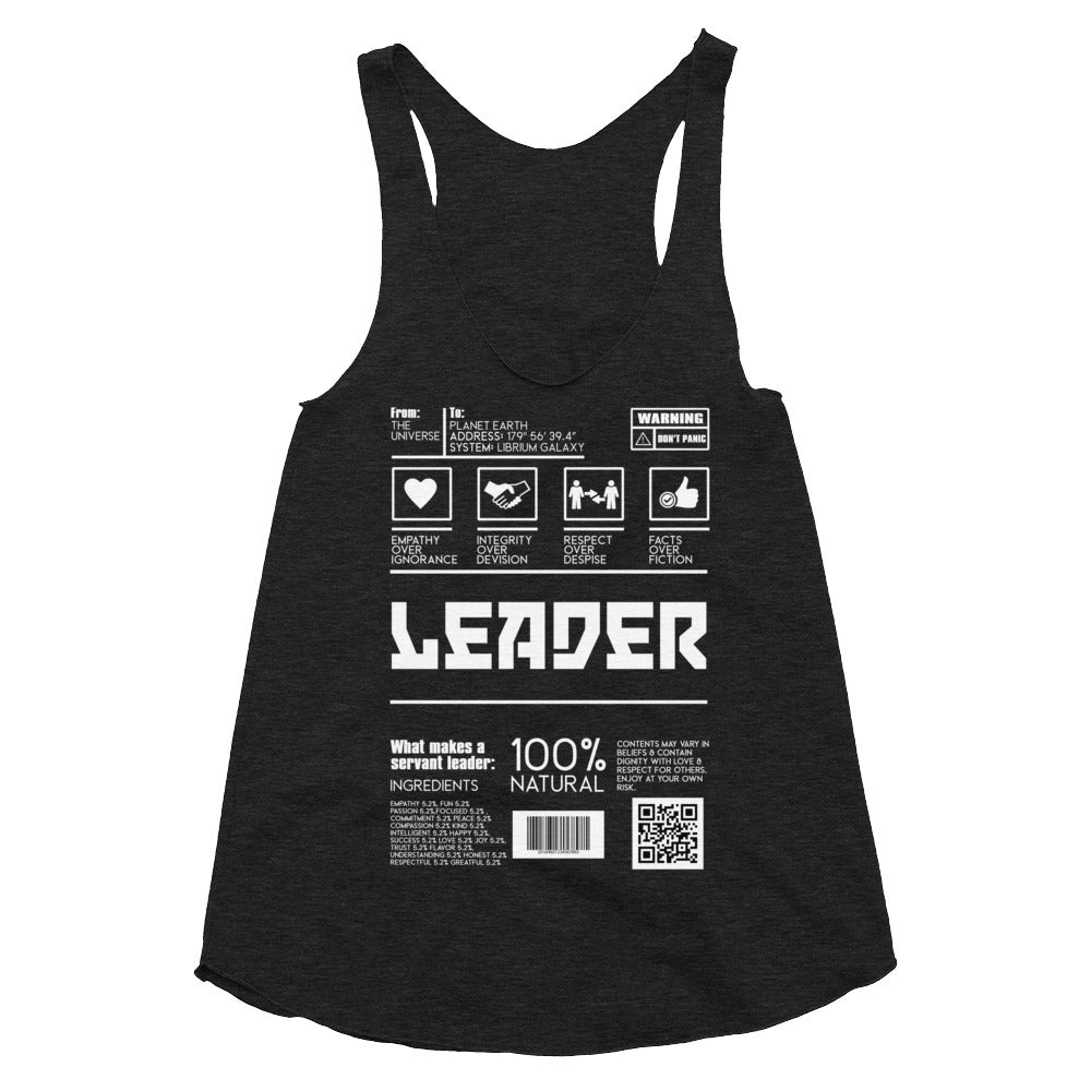 Leader | Morall Army | Women's Tri-Blend Racerback Tank