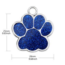 Load image into Gallery viewer, Stunning Personalized Dog, Cat Tags Glitter Engraved Pendant.